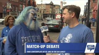 Chris talks to fans about UNC matchup!!!