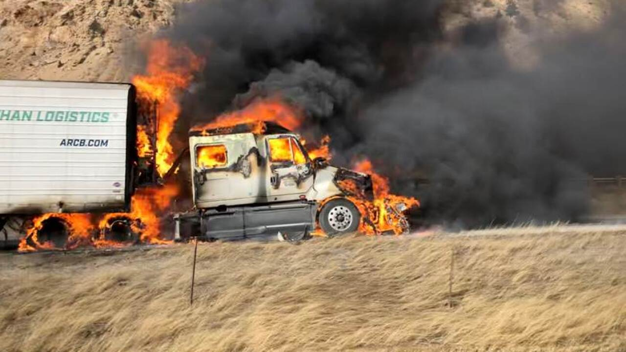 I-70 eastbound semi fire_by Michael Warren_Jan 16 2020