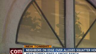 Neighbors on edge after alleged squatters move in near Torrey Pines and Smoke Ranch