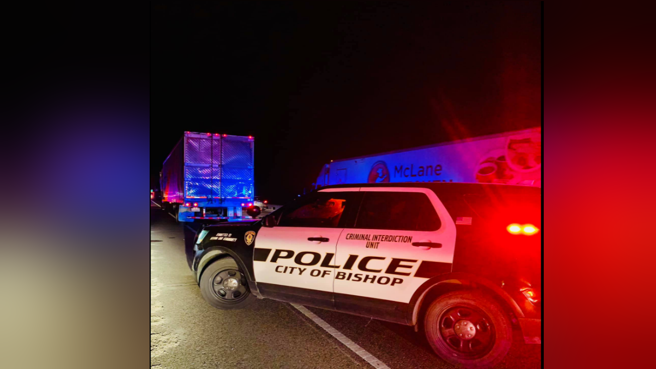 Stolen semi-truck along U.S. Highway 77
