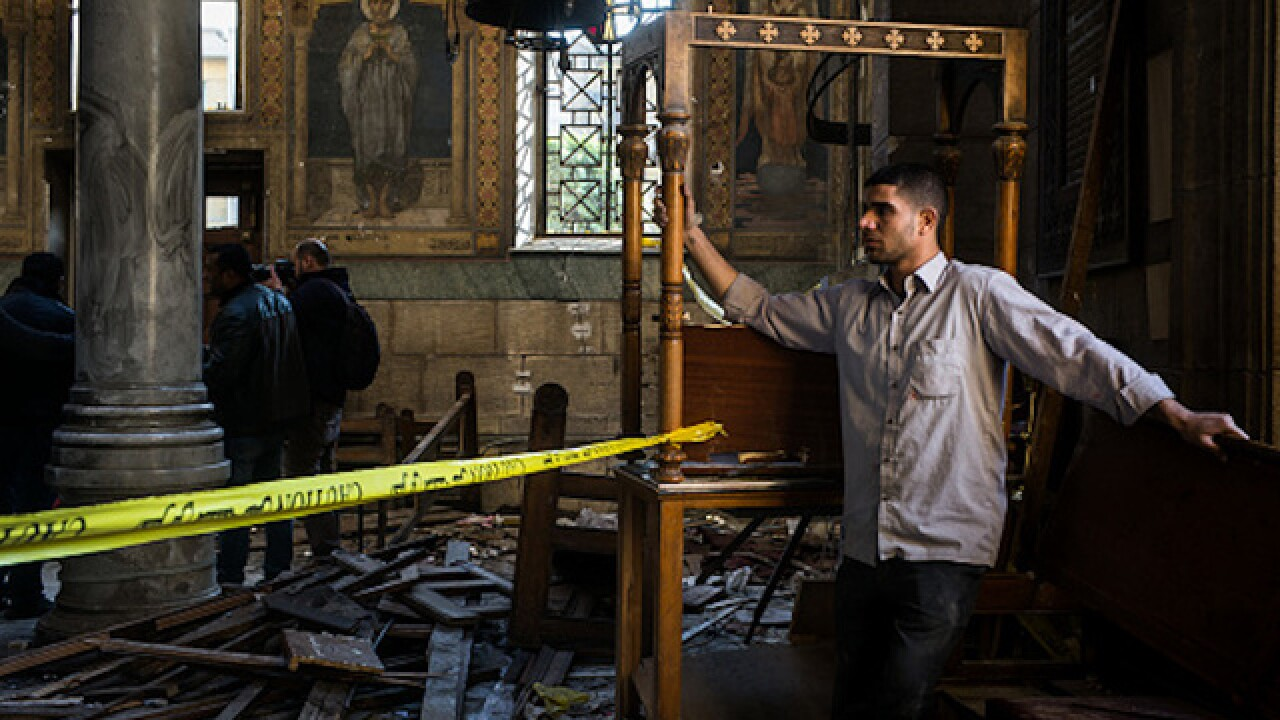 Bombing near Cairo cathedral kills at least 25