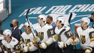 Golden Knights Sharks Hockey