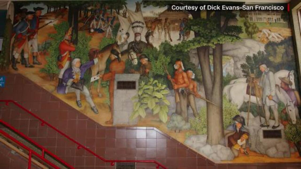 San Francisco school will cover up a mural depicting slaves, dead Native Americans