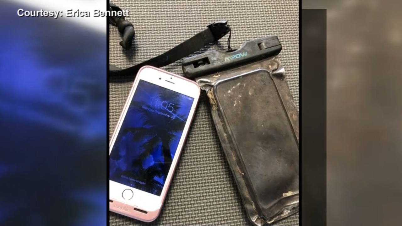 An iPhone was lost in a river for a year. When a diver found it, it still worked