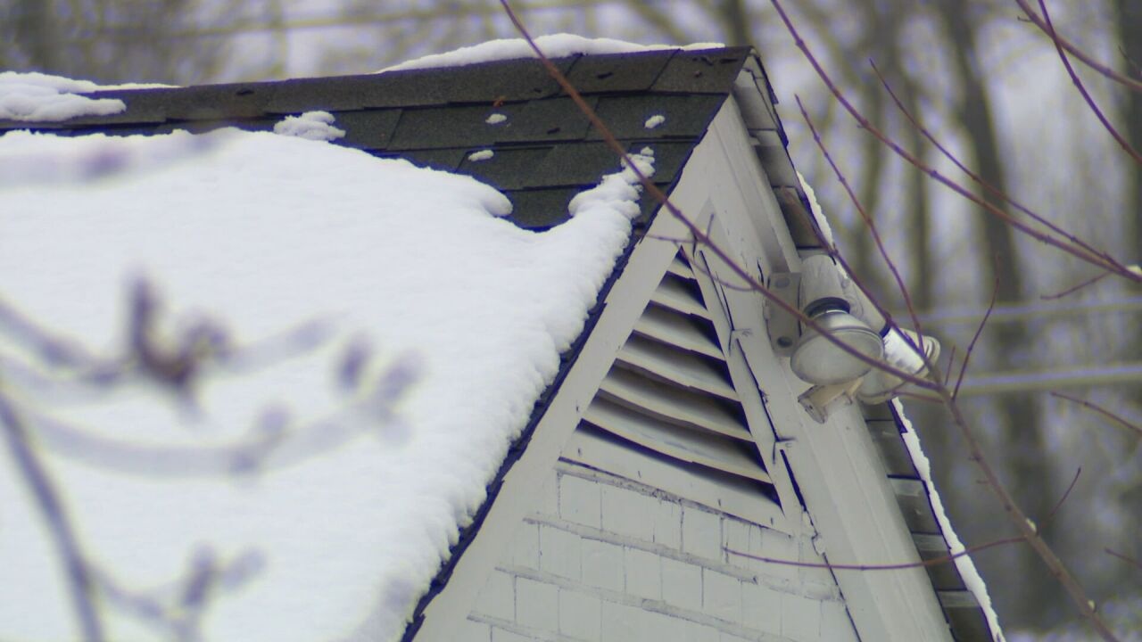 snow on roof