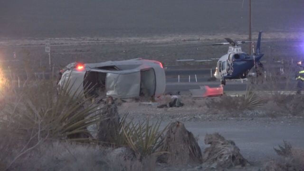 2 injured in rollover crash near Lee Canyon Road, U.S. 95