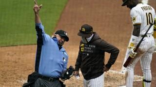 Brewers Padres Baseball jayce tingler
