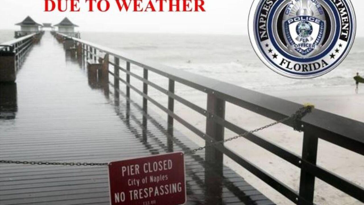 Naples Pier closed.JPG