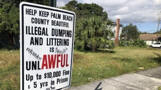 Palm Beach County illegal dumping sign