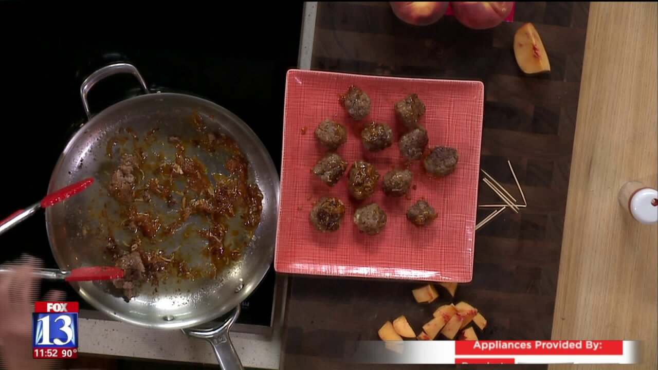 Peach Glazed Meatballs