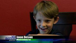 The Wheel of Shame's biggest fan, 5-year-old Jaxon