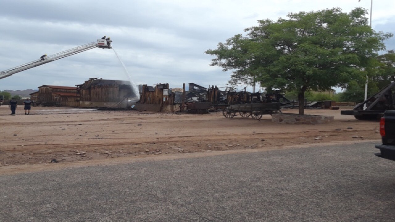 Large fire erupts at Mining Camp Restaurant