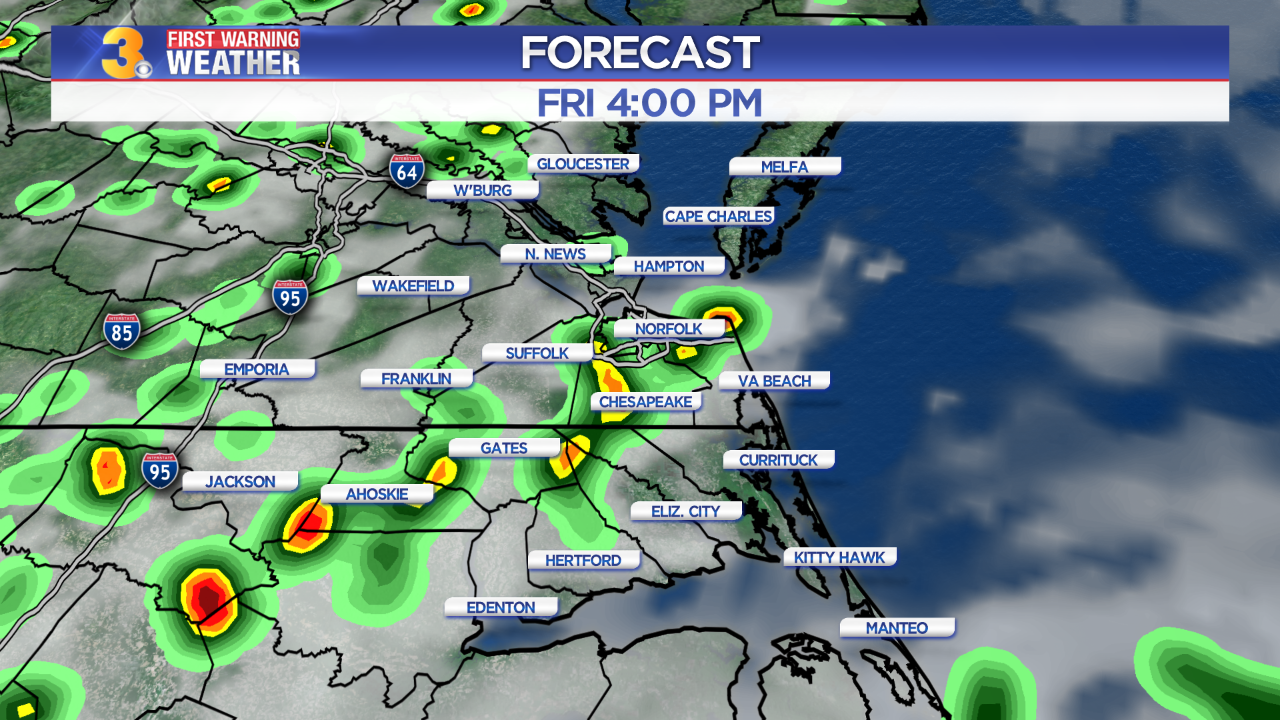 First Warning Forecast: Tracking oppressive heat and the chance for storms