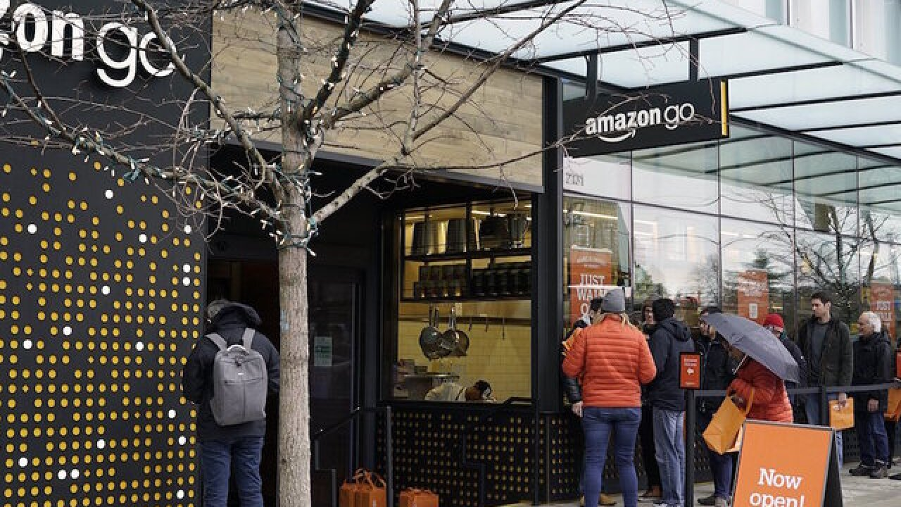 Amazon Go expansion brings a new 'longer term' risk to Kroger Co.