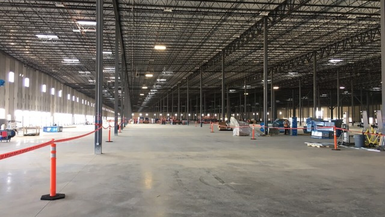 Amazon Fulfillment Center nearing completion