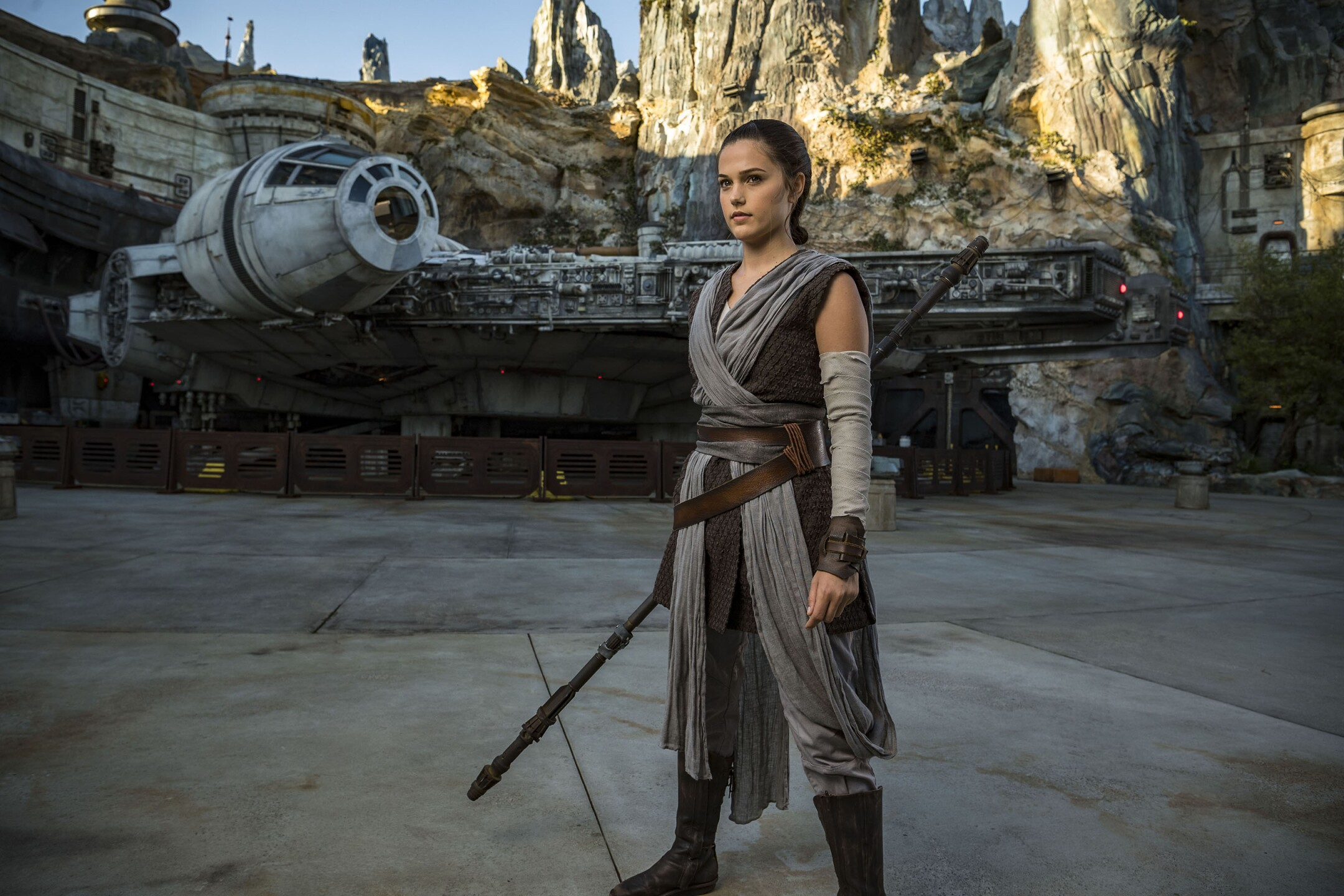 Rey in Star Wars: Galaxy's Edge
