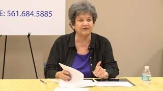 U.S. Rep. Lois Frankel speaks in West Palm Beach on June 11, 2021