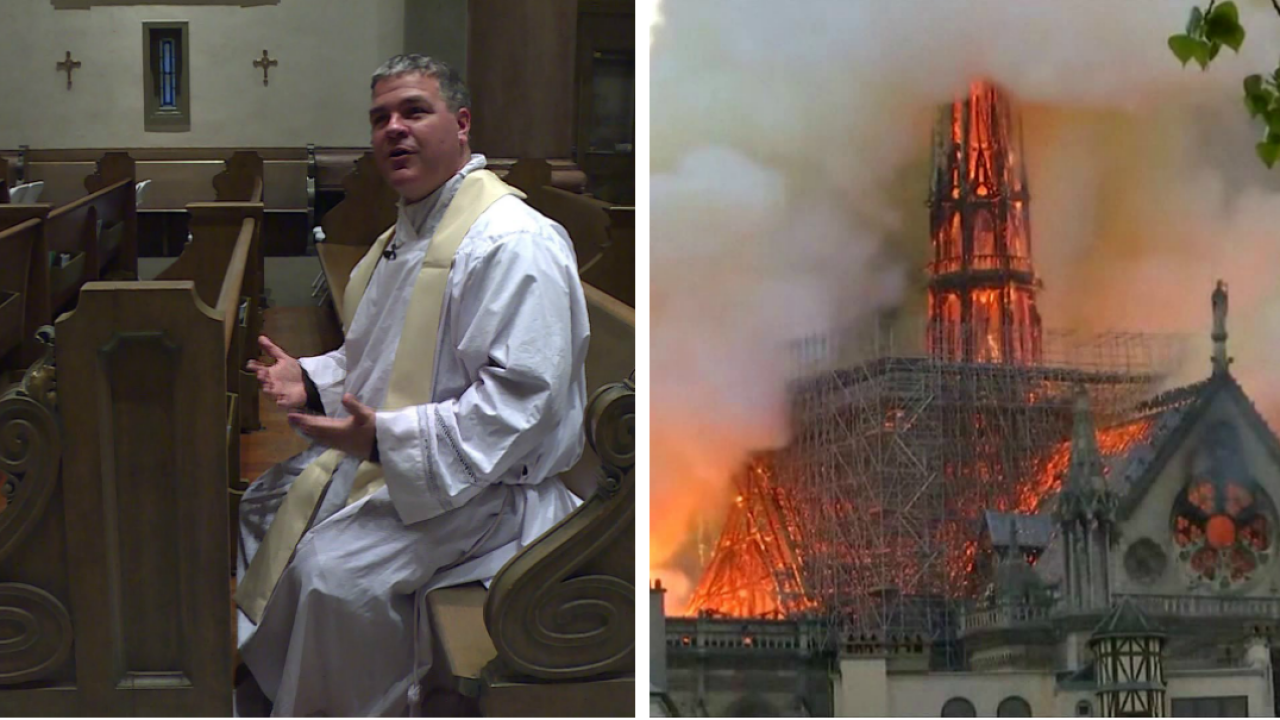 Richmond priests reflect on the burning Notre Dame Cathedral: 'I was just there'