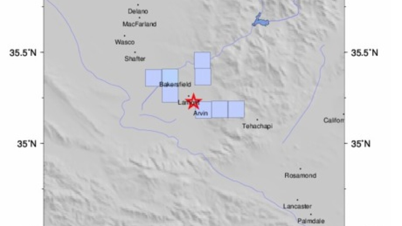 Arvin hit by 2.9 magnitude earthquake