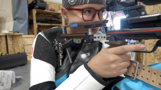Bozeman's Eva Horgan and her air rifle are heading to Ohio State University