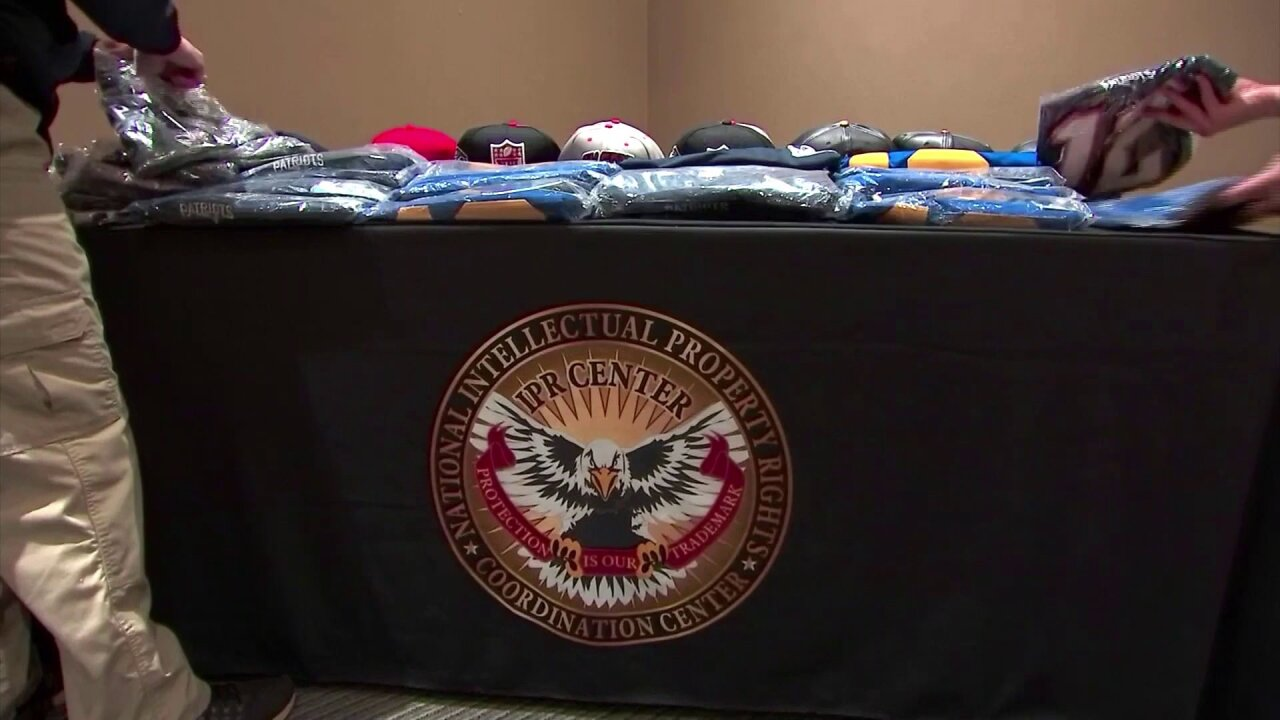 Massive operation takes fake Super Bowl gear off thestreets
