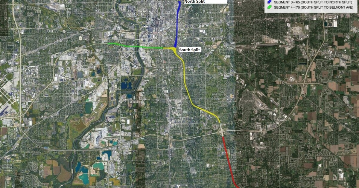 Indianapolis highway shutdowns begin Friday