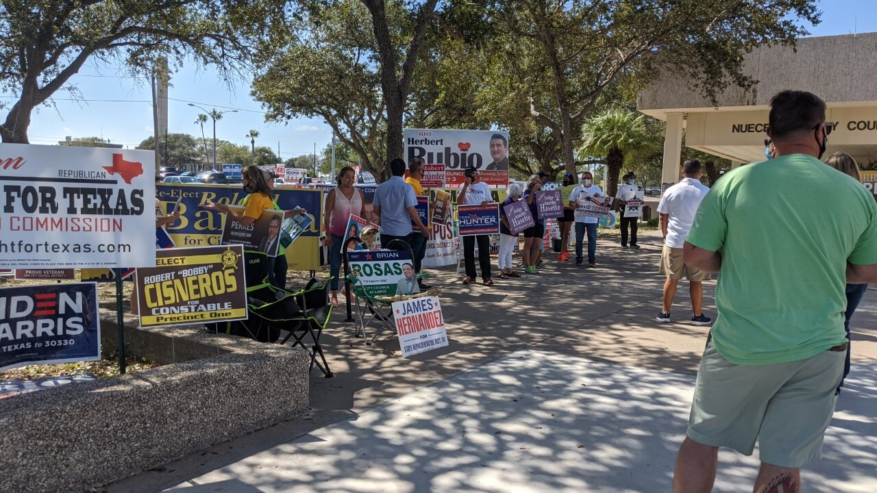 Early voting at Nueces County Courthouse on Sunday