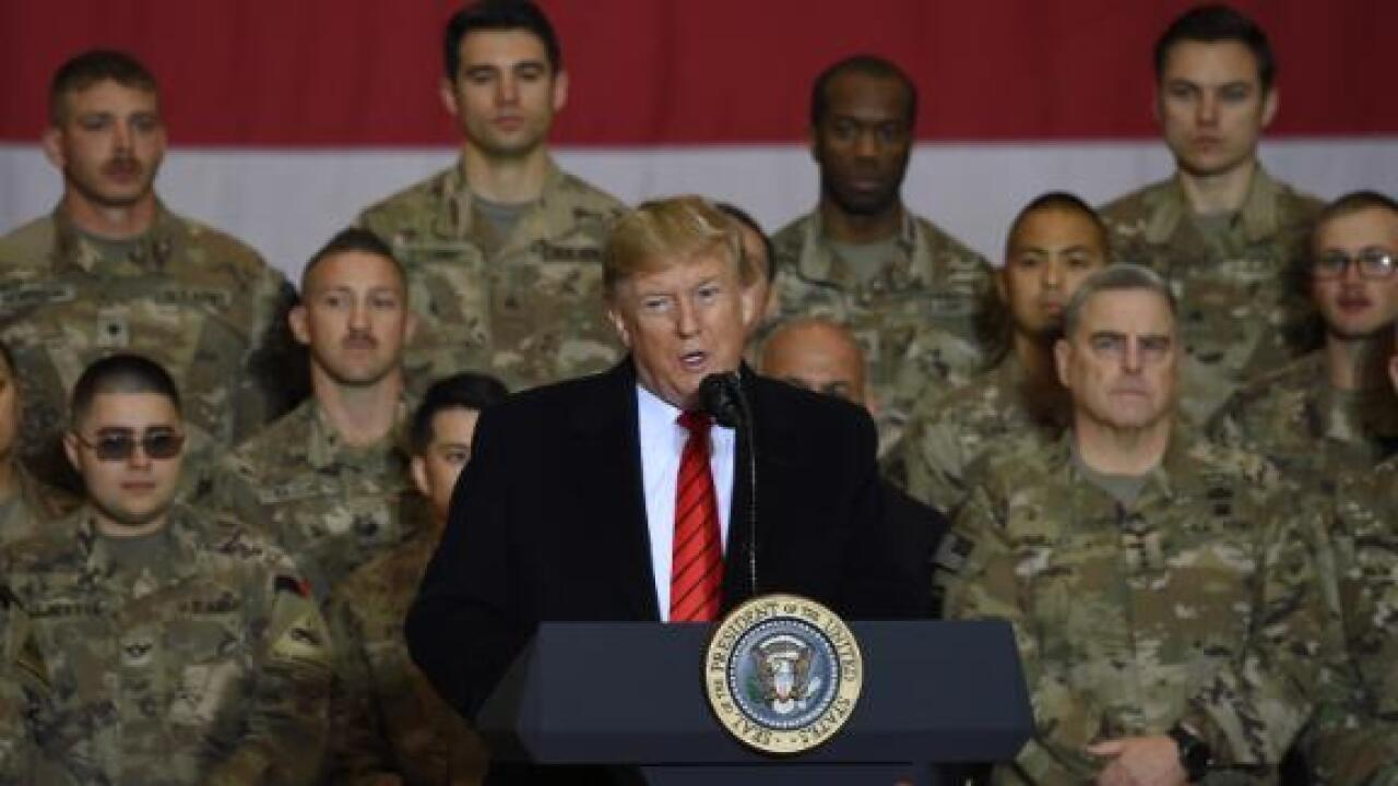 President Trump says Taliban talks have restarted during surprise Afghanistan visit