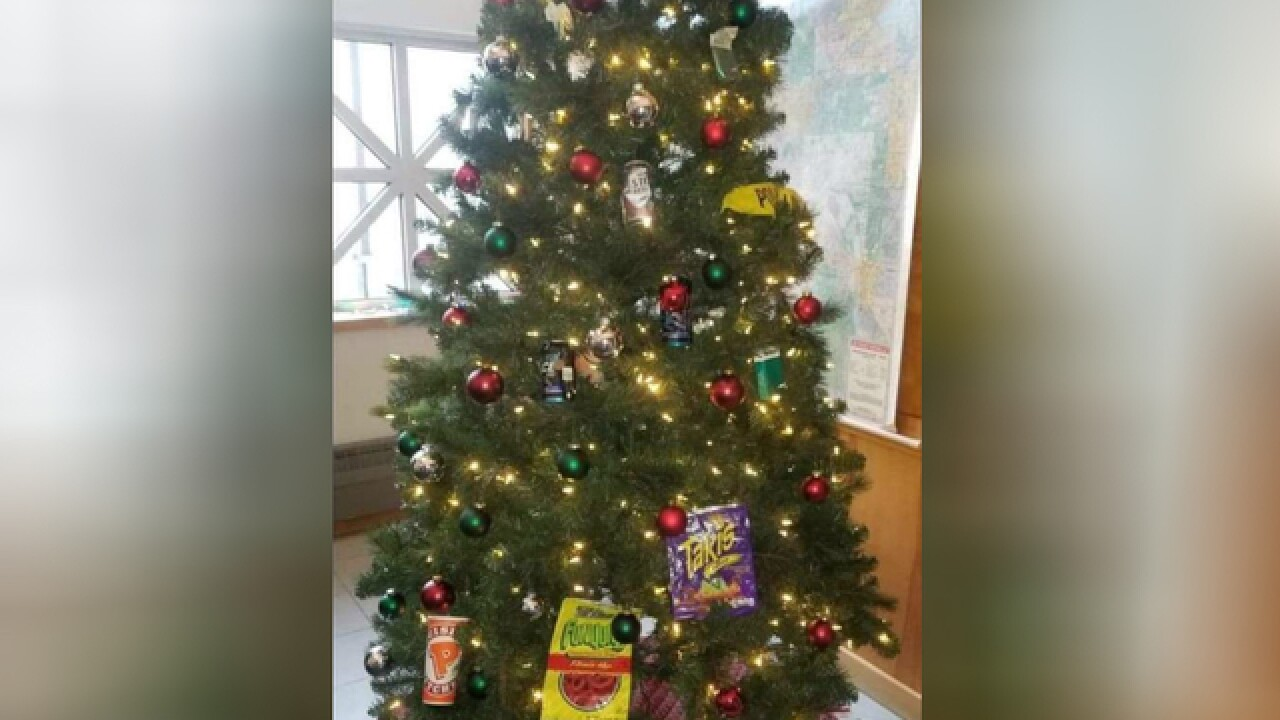 Police Christmas Ornaments.Two Minneapolis Officers Put On Leave After Decorating