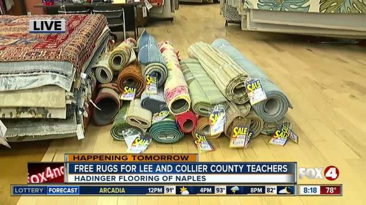 Teachers receive free rugs at annual event