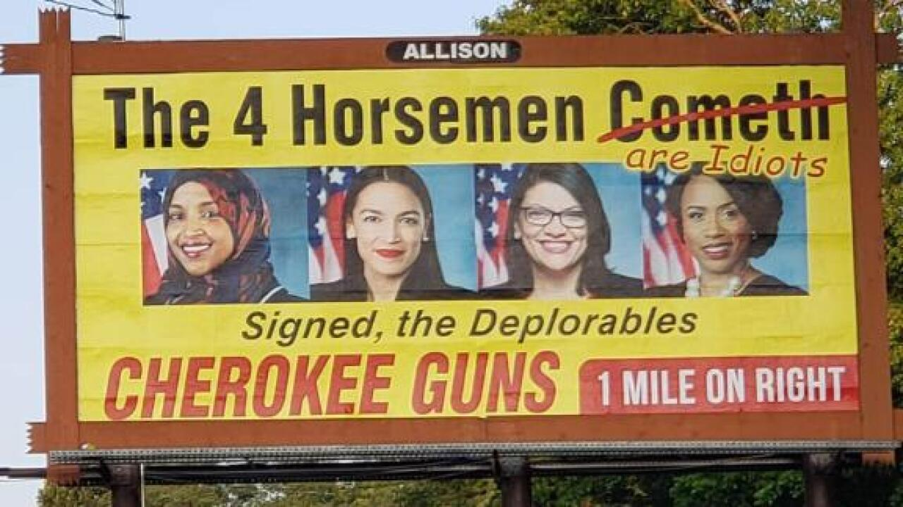 Controversial NC billboard targeting congresswomen known as the 'Squad' is coming down