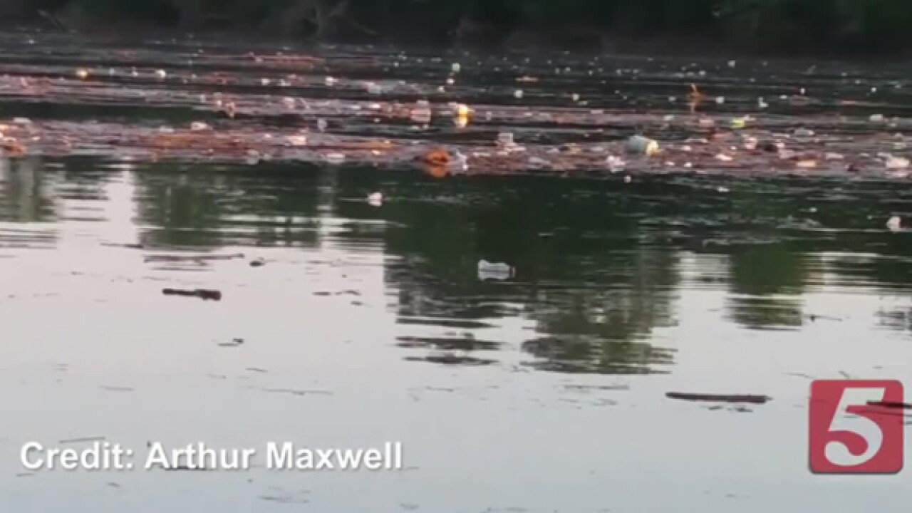 Video Shows Large Amounts Of Trash On The Cumberland