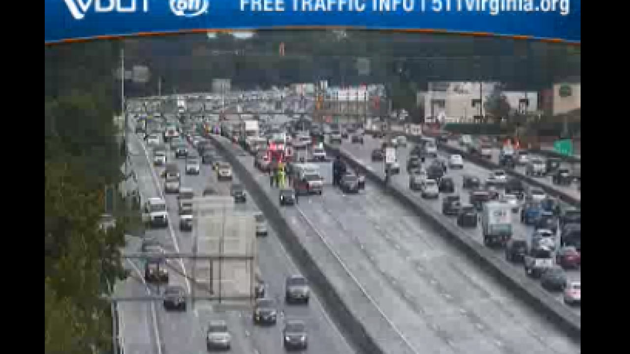 Armored truck involved in five-vehicle crash on I-264 in Virginia Beach