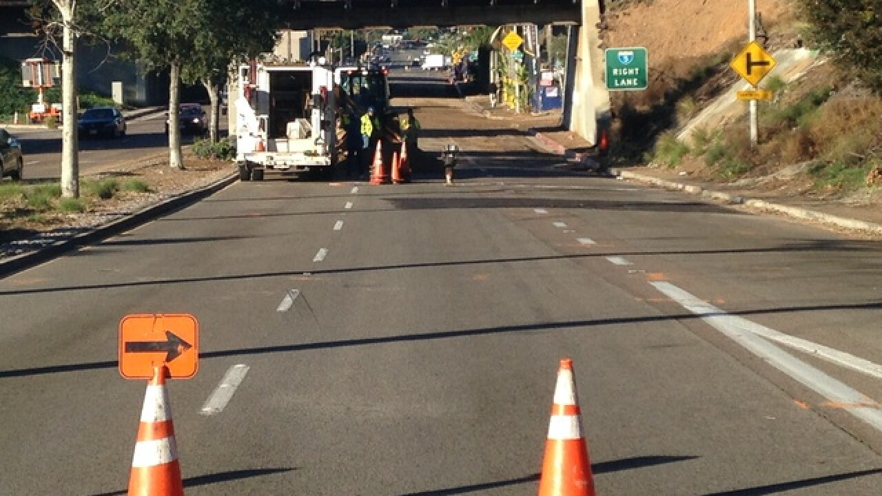 Ruptured pipe closes Balboa Ave. in Mission Bay