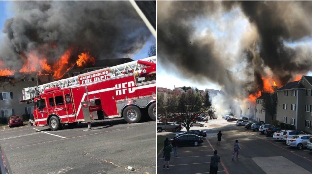 5-alarm fire burns apartment complex near JMU inHarrisonburg