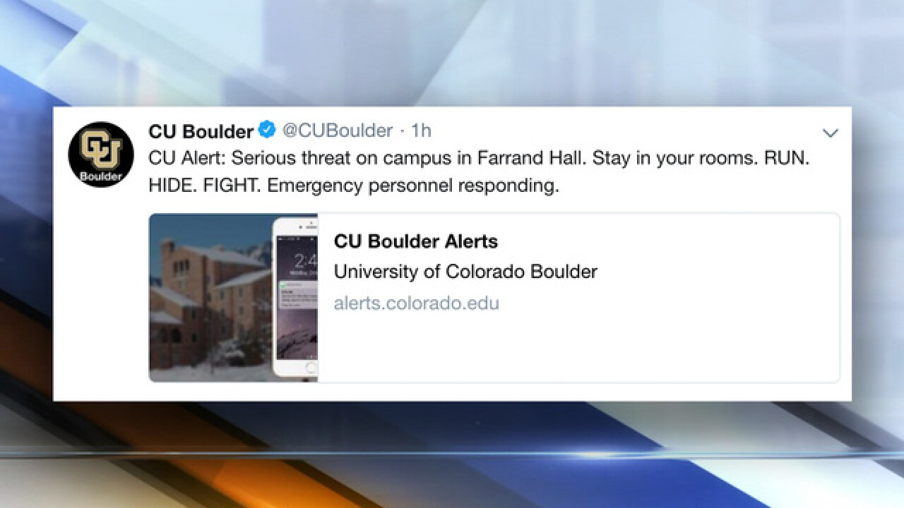 "CU-Boulder alert warns of ""serious threat"""