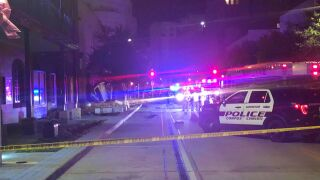At least one person is dead following a a crash outside an apartment building in downtown Corpus Christi