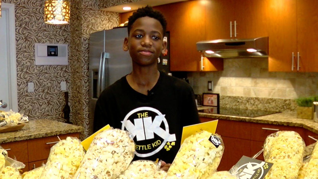 Florida's 'Kettle Kid' is a foodie who used his peanut allergy to a create hot-selling snack