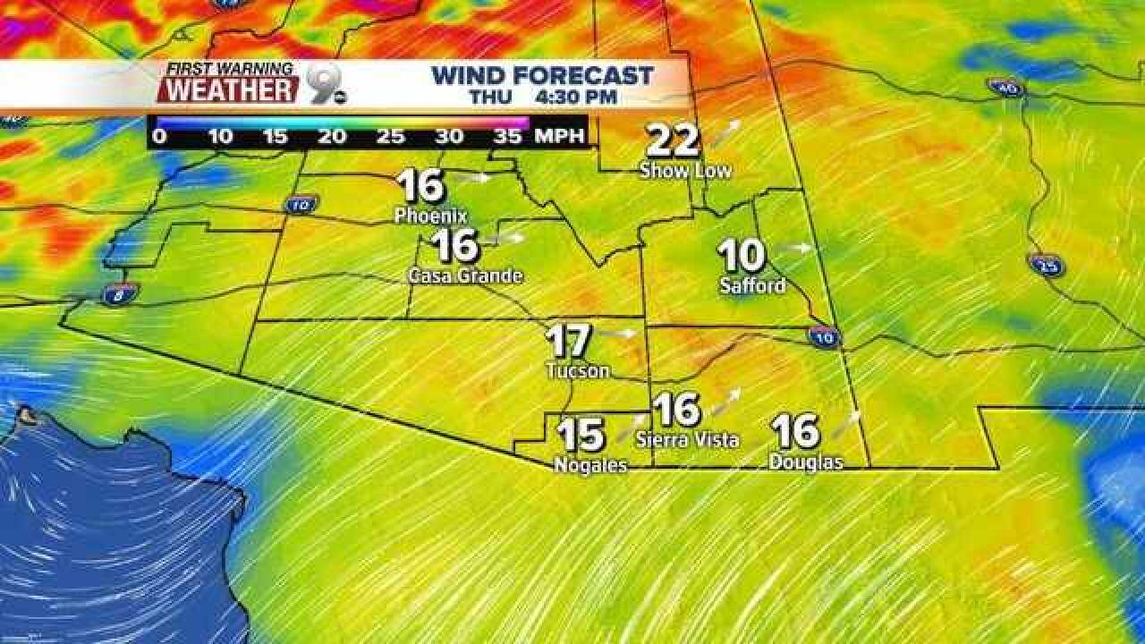 Record heat and gusty winds coming
