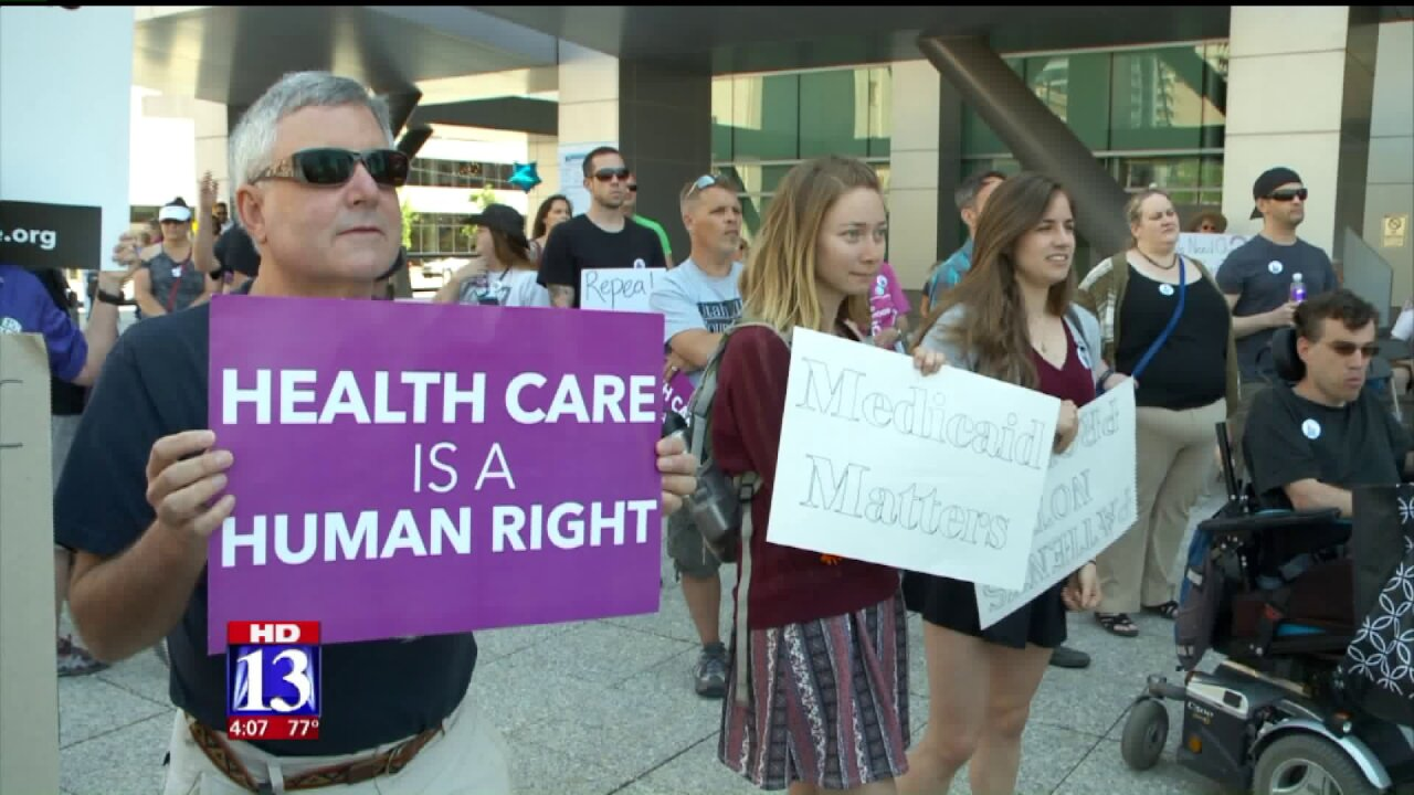 Rally in Salt Lake City opposes replacing Affordable CareAct