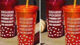 Dunkin' Is Selling Glow-In-The-Dark 'Hocus Pocus' Halloween Cups