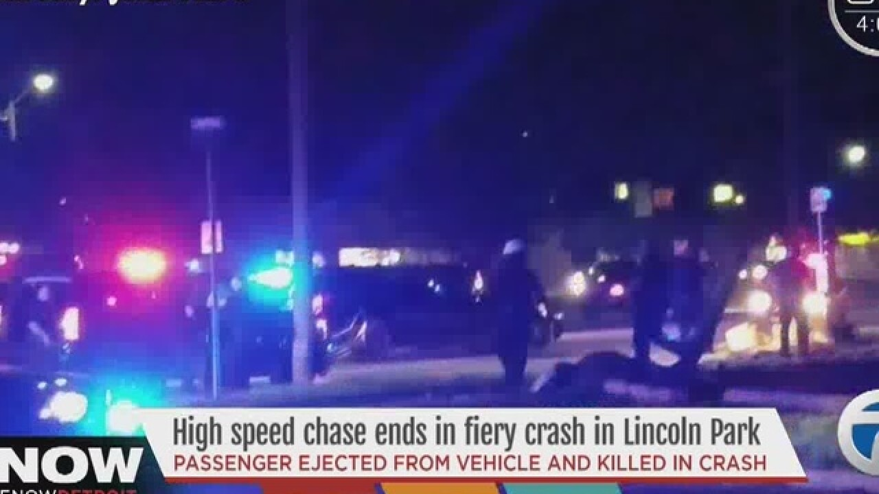 Deadly police chase ends in Lincoln Park
