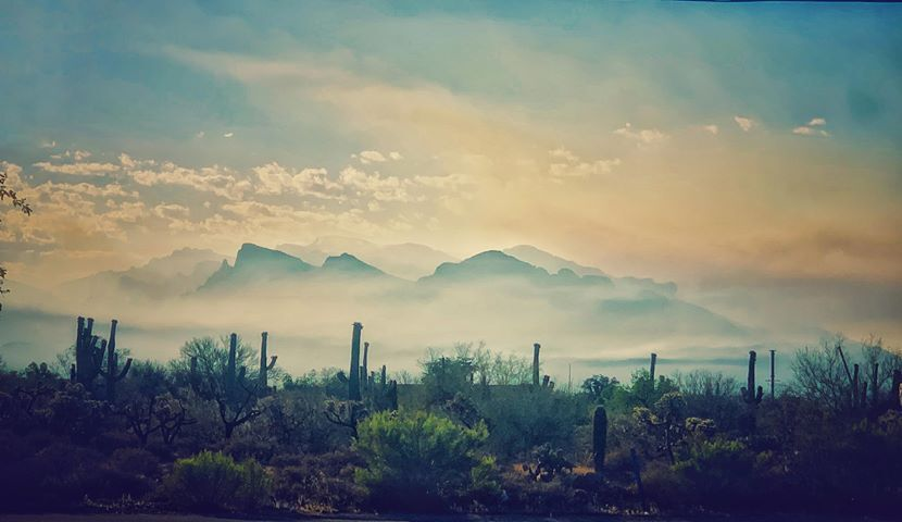 Smoke lays heavy over Tucson from the Bighorn Fire in the Catalina Mountains