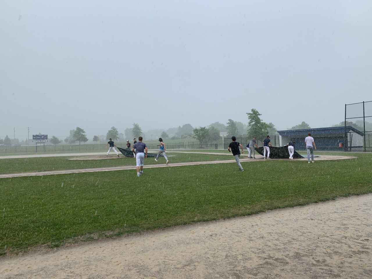South Christian baseball practice gets rained out