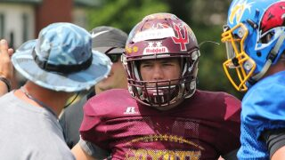 East team practices in Great Falls ahead of East-West Shrine Game