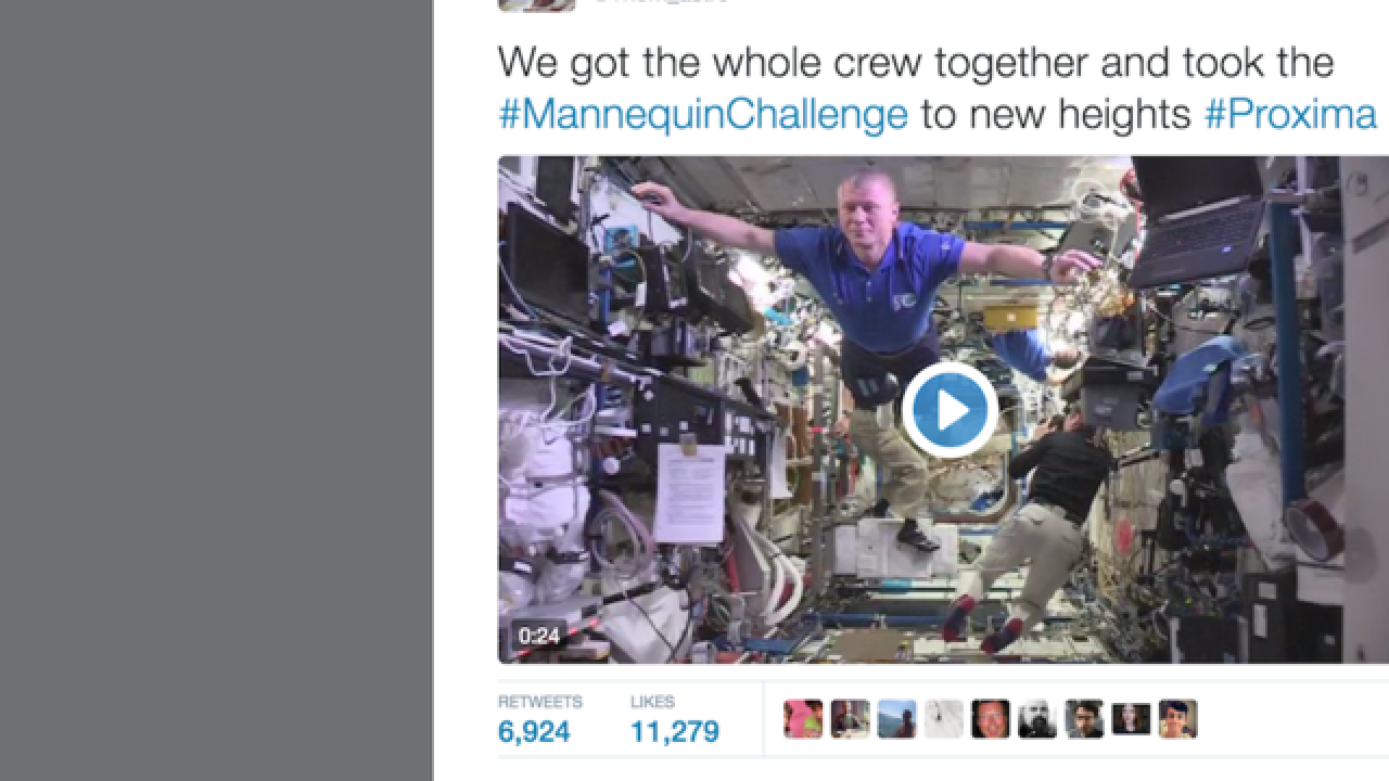 Best Mannequin Challenge ever? Astronauts pose aboard International Space Station