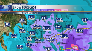 More snow Friday and Saturday