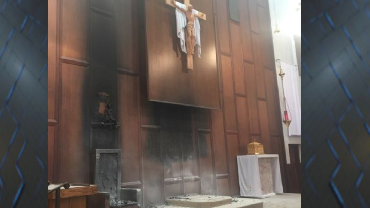 Fire at St. Thomas More Co-Cathedral was intentionally set