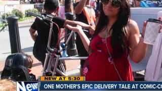 Expectant mother's Comic-Con surprise