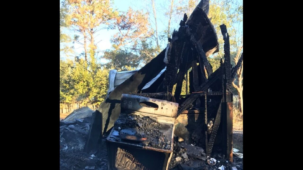 Fire destroys house in Mayo